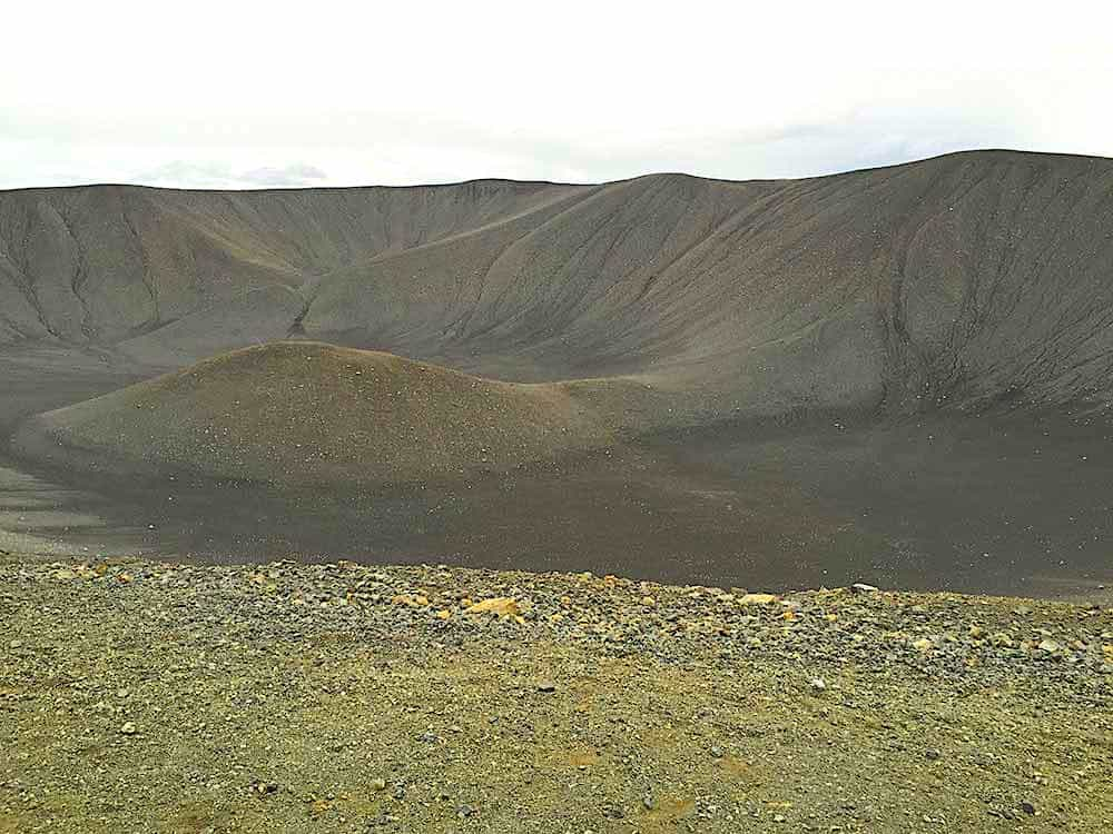 The unique beauty of Hverfjall in Iceland. The perfect addition to any Iceland solo travel itinerary.