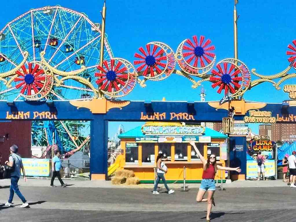 The colorful signs and whimsical rides make Coney Island the perfect place for Instagram photos.