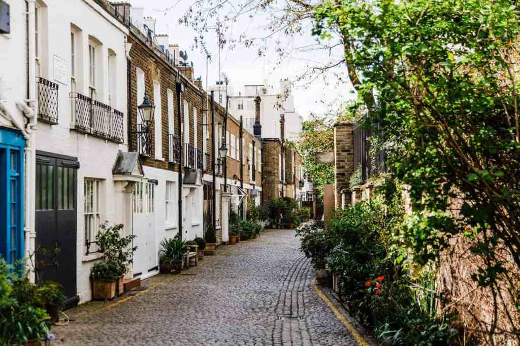 The beauty of the Kynance Mews in London.