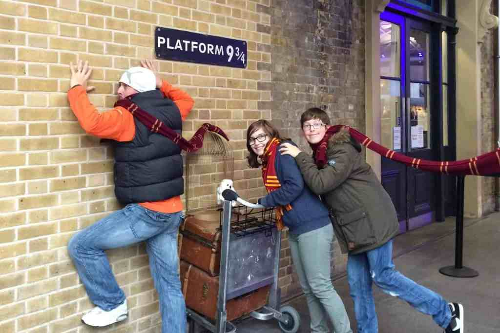 If you're a Harry Potter fan and visiting London, definitely stop by Platform 9 and 3/4 and have your picture taken.