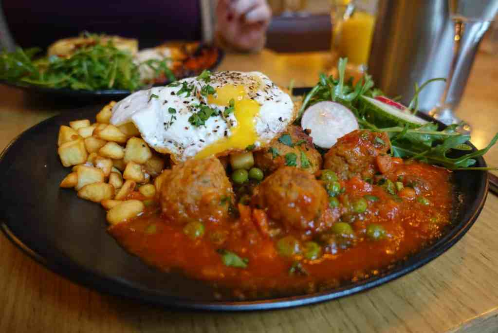 Some of the amazing brunch options you'll find at Las Banderas in London.