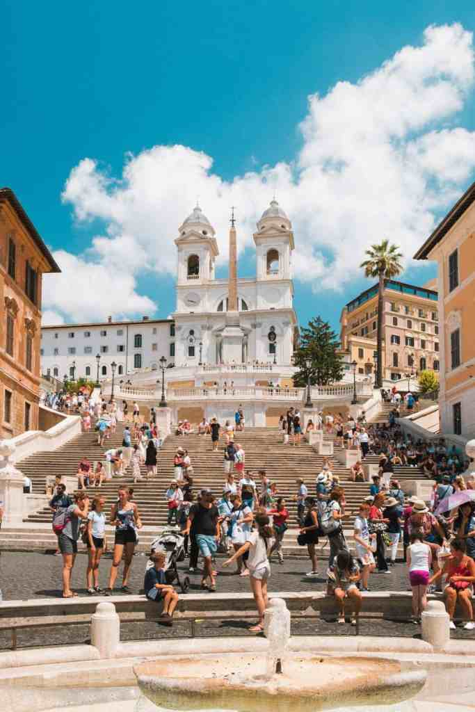 No Rome itinerary would be complete without a trip to the exquisite, Spanish Steps.