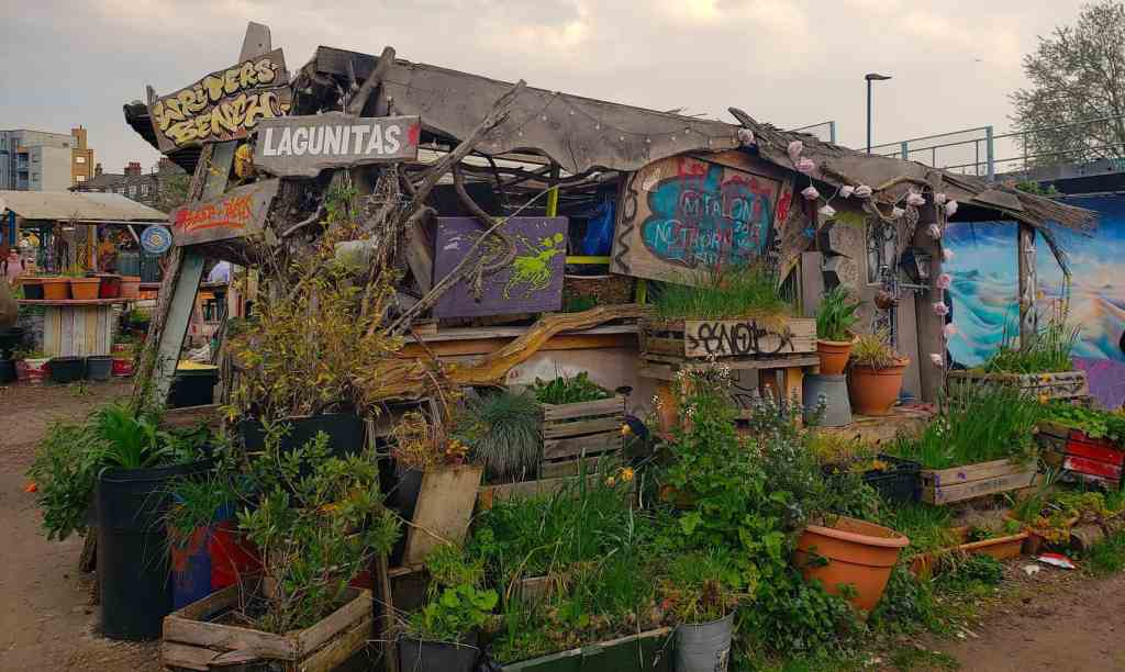 Visiting the Nomadic Community Garden is one of the many fun things to do in Shoreditch, London.