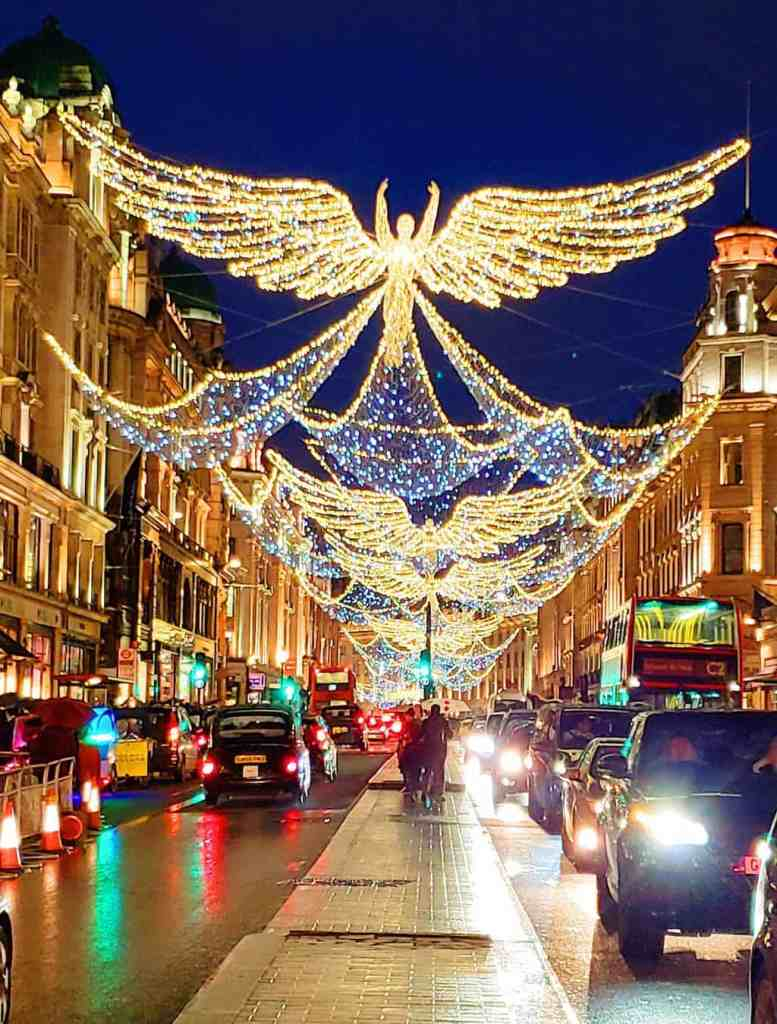 Some of the amazing Christmas lights that you'll find on Regent and Oxford Street in London.