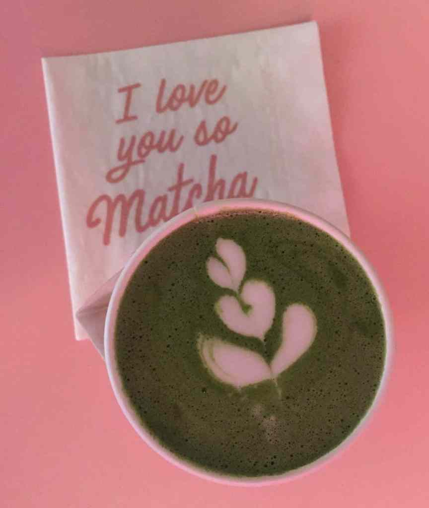 Instagrammable decor and delicious Matcha Lattes are what you'll find inside Cha Cha Matcha.