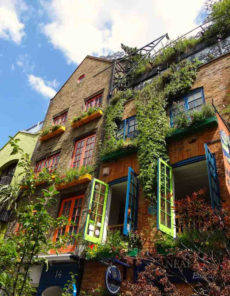 Neal's Yard is a vibrantly colored, secret(ish) courtyard right next door to Covent Garden in London.