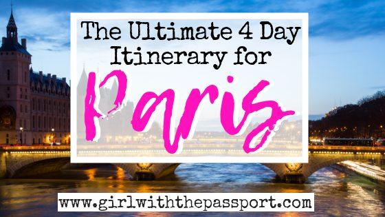 4 Days Paris Itinerary