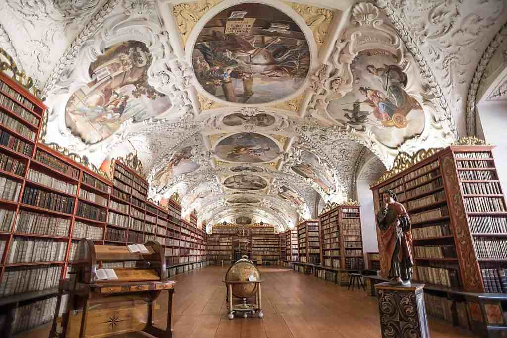 The beauty of the legendary, Strahov Library in Prague.