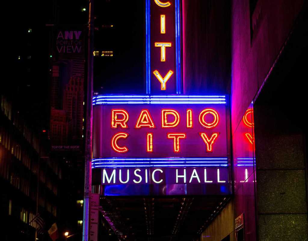 Radio City Music Hall is one of the most famous theaters in all of NYC.