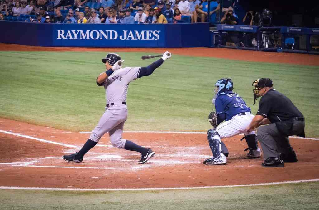 A-Rod (AKA Alex Rodriguez up at bat in Yankee Stadium).