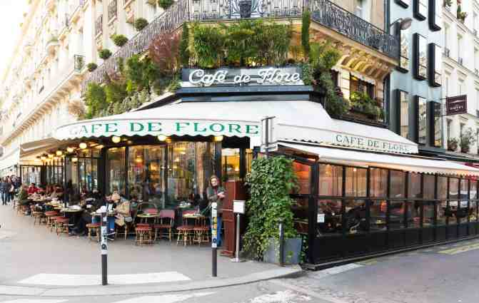 Cafe de Flore initially opened its doors in the 1880s and is one of the oldest coffee houses in all of Paris.