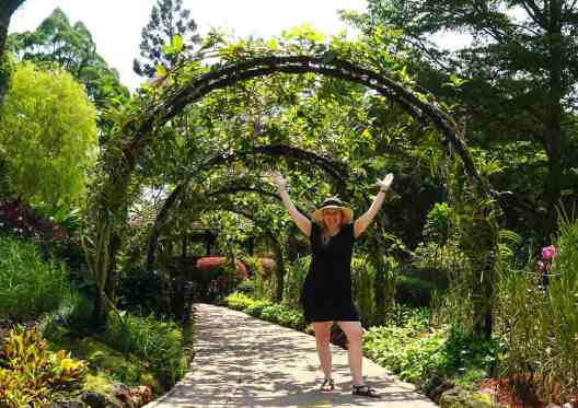 While exploring Singapore's Botanic Gardens, I tried to wear a hat, sunglasses, and sunscreen just to keep myself safe in the sun.
