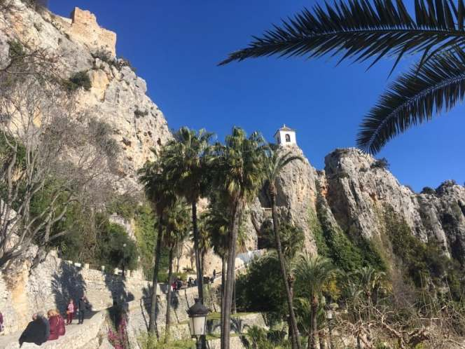 The beautiful village of Guadalest in Spain.