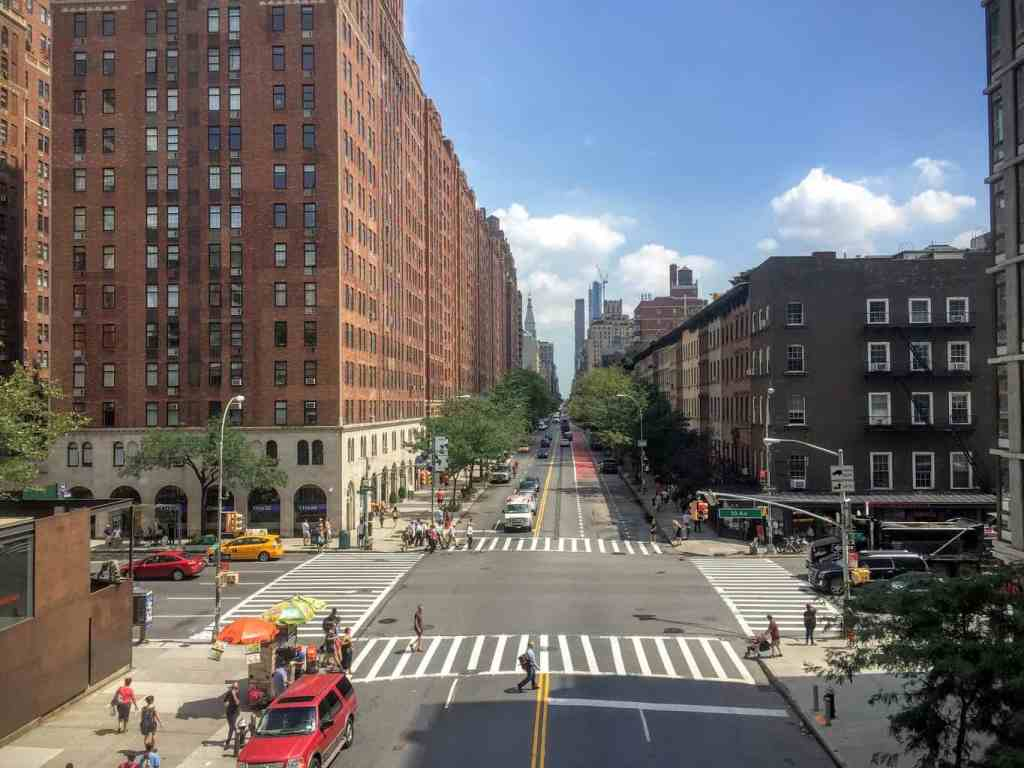 A view of Manhattan from The Highline, a fantastic NYC photography spot.