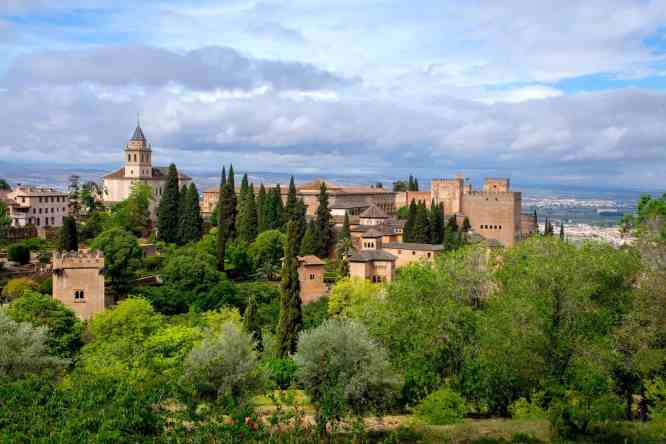 The beauty of the Alhambra, a historic palace and fortress complex that is located in Granada, Andalusia, Spain.