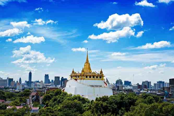 A beautiful view of Bangkok's legendary, Golden Mount.