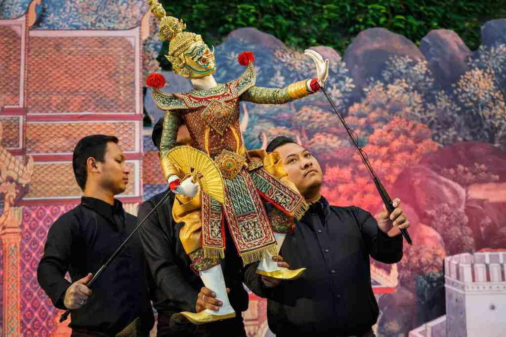 The vibrant beauty and exquisite artistry of traditional, Thai puppetry.