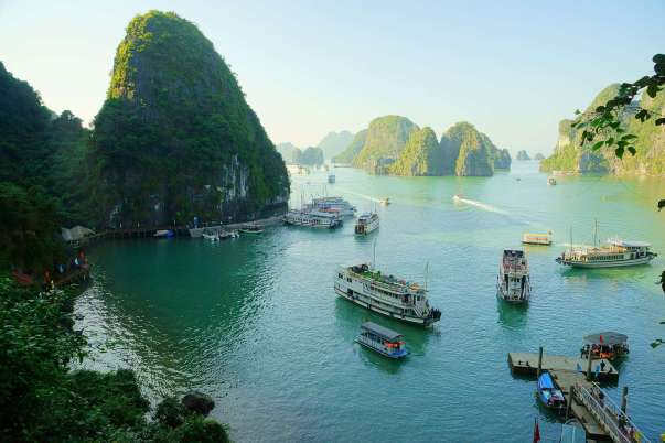 The ethereal, natural beauty of Halong Bay in Northern Vietnam.