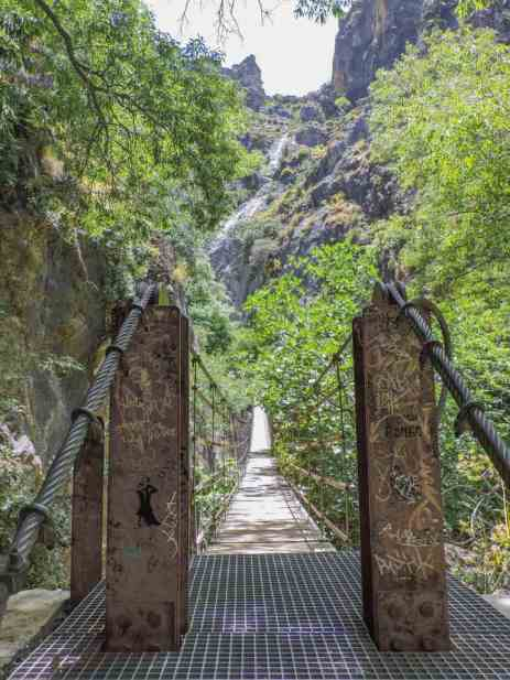 The lovely, Hanging Bridges of Los Cahorros in Monachil, Spain.