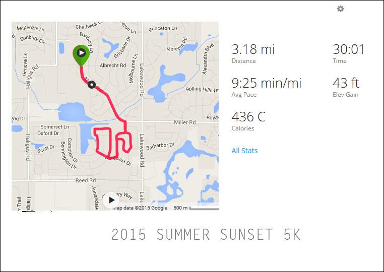 2015 Summer Sunset 5k