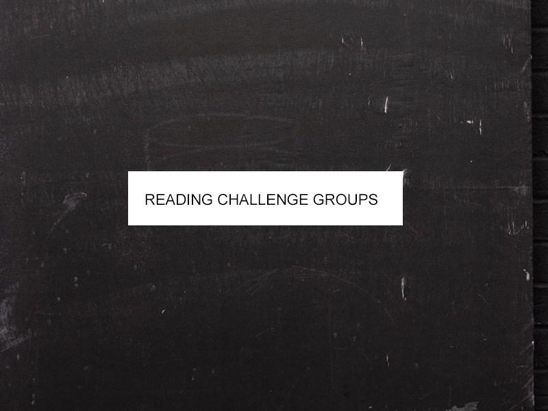 reading challenge groups