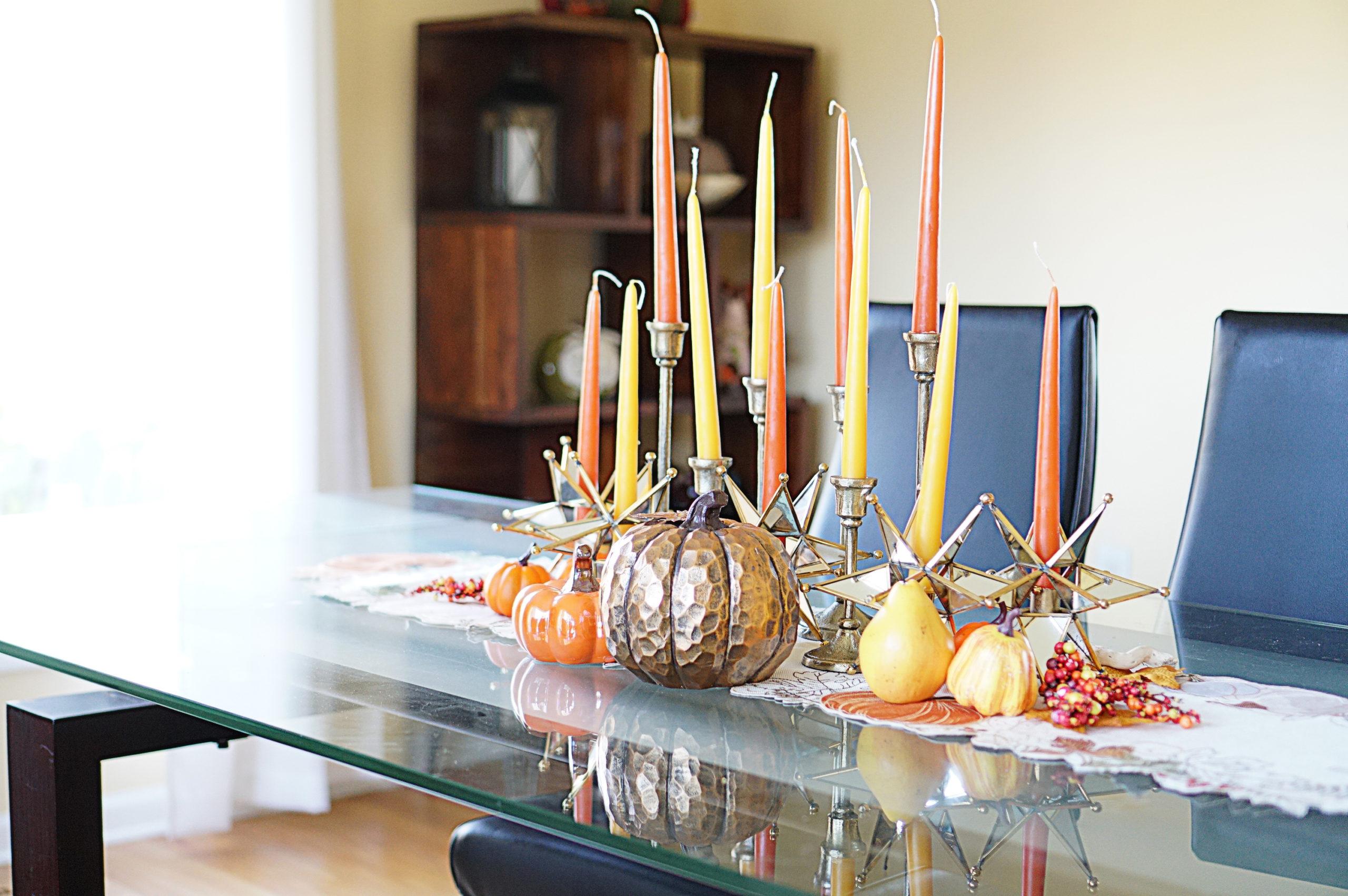 autumn 2020 candle tablescape