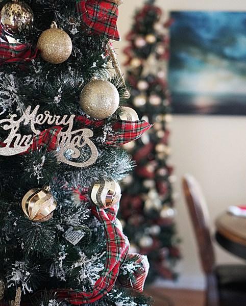 merry christmas slim tree