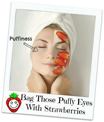 How to reduce bags under your eyes with strawberries by Barbies Beauty Bits