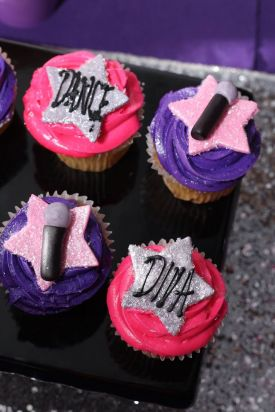 St Augustine Diva Dance Birthday Party Cupcakes