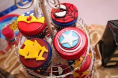 St Augustine Superhero Birthday Cupcakes
