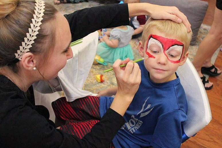 Jacksonville Superhero Birthday Face Painting
