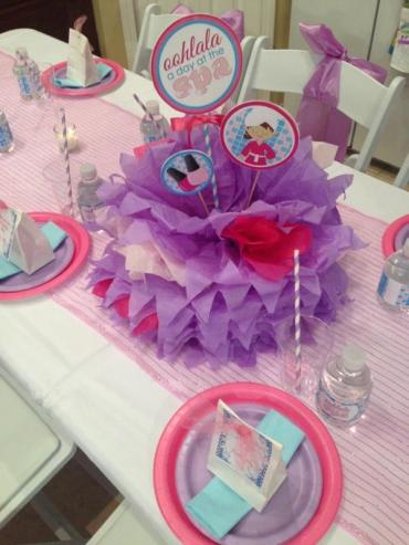 Diva Spa Party Planning