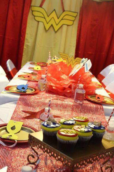 Wonder Woman Birthday Party Decor