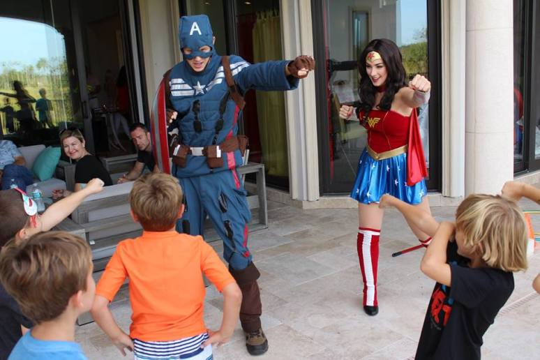 Superhero Birthday Combat Training