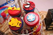 Superhero Birthday Cupcakes