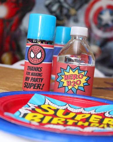 Superhero Birthday Party Decor