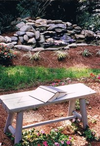 Past Work a natural stonework style water feature by Girmann's