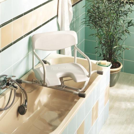 siege de bain pivotant pour baignoire invacare alize h3000