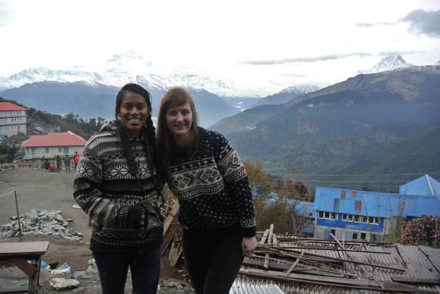 Alka en Christiana voor de aardbeving