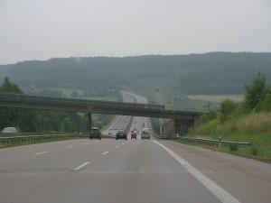 De Autobahn 3 tussen Köln en Frankfurt am Main (foto Jeroen de Regt, 2010).