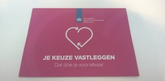Pamphlet for organ donation in the Netherlands