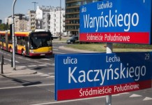Lech Kaczyński Street in Warsaw, until recently it was People's Army Avenue. Source: Adrian Grycuk (CC) commons.wikimedia.org