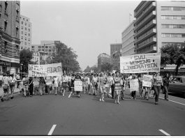 'Demonstration for women's rights' by Washington Area Spark (Flickr), licensed under CC BY-ND 2.0