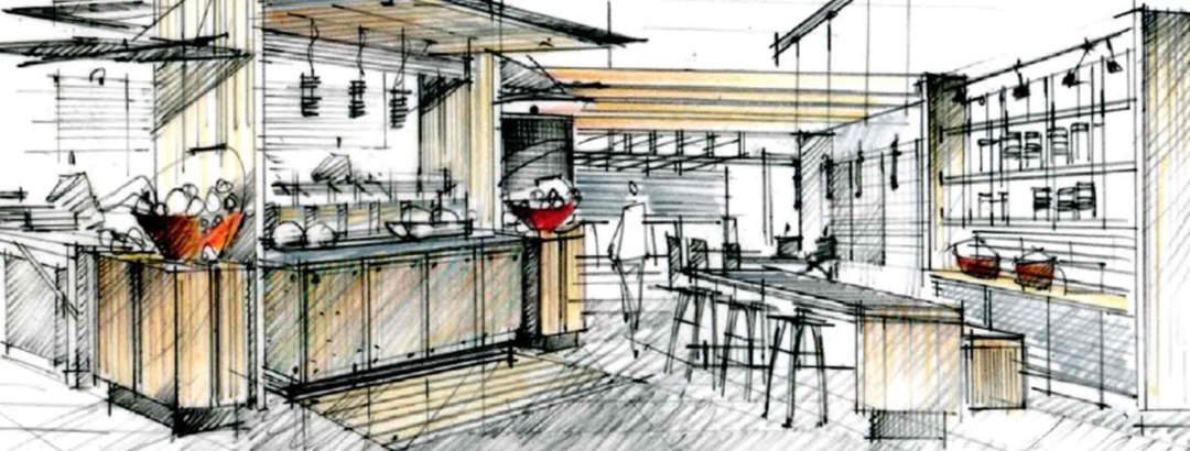 YCC Store Concept Sketch
