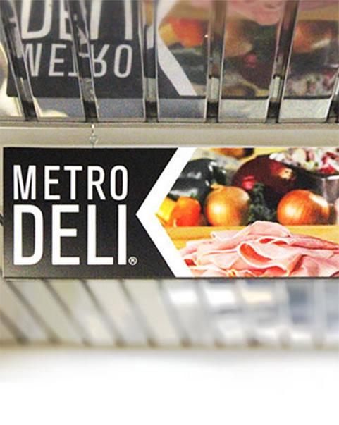 Metro Deli Display Signage