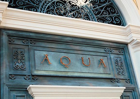Bellagio Aqua Signage