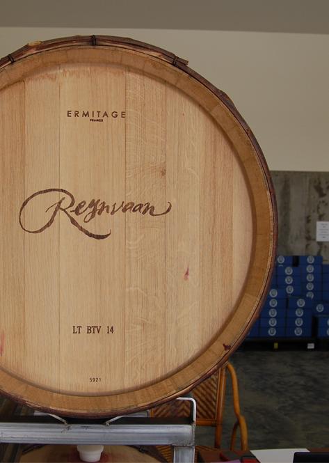 Reynvaan Family Vineyards Wine Barrell