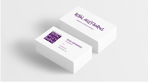 Royal Alley Barnes, Business Card Design