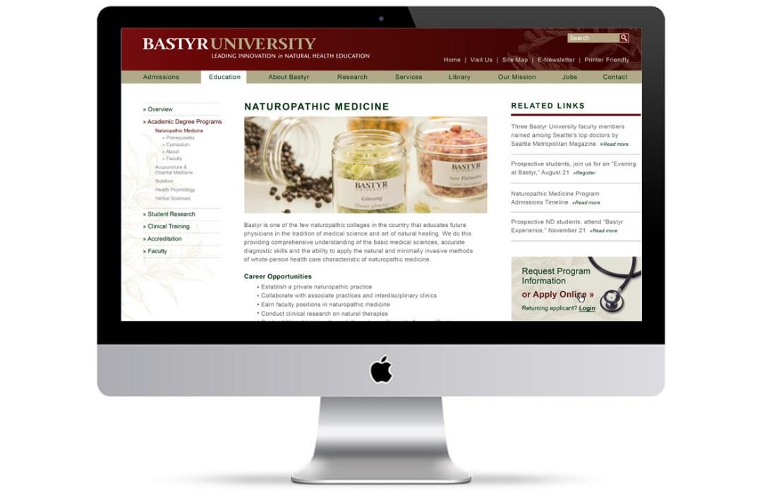 Bastyr University Website Concepts