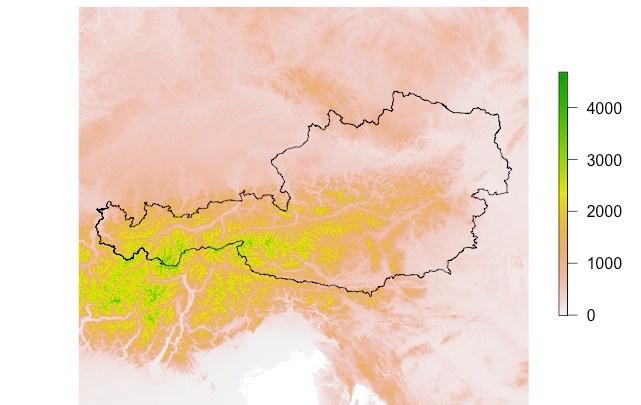 R raster: getData SRTM, WorldClim, GADM | GIS-Blog com